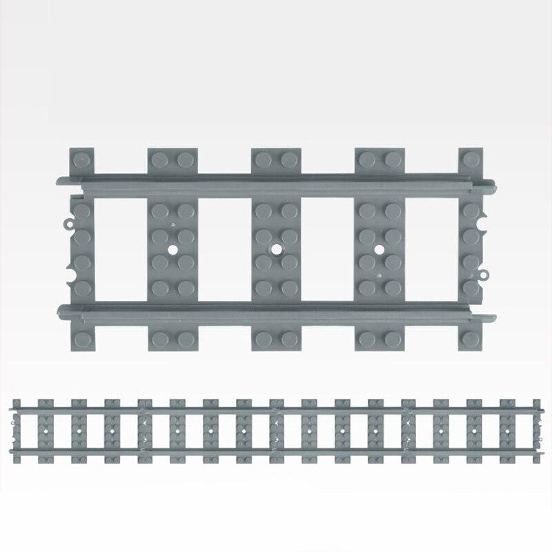20 шт. города паровозиков гибкий трек железнодорожный переезд прямые изогнутые рельсы го ...