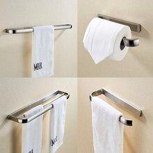 лучшая цена Leyden Brushed Brass Wall Mounted Bathroom Accessories Set Towel Bars Holder Towel Ring Toilet Paper Holder Clothes Hook