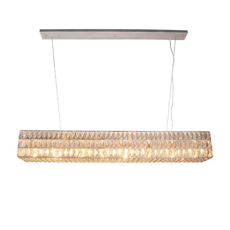 Большие прямоугольные кристалл подвесной светильник современный прозрачный кристалл кулон 8 Свет подвесные светильники фойе освещения св