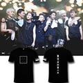 MONSTA X moletom tshirt wonho kpop camisas short sleeve T-shirt loose t shirt women summer kawaii