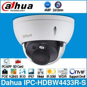 Image 1 - Dahua IPC HDBW4433R S 4MP IP kamera yerine IPC HDBW4431R S POE SD kart yuvası ile IK10 IP67 Onvif Starnight akıllı algılama