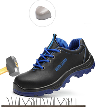 New male anti-smashing anti-piercing steel toe cap protective shoes lightweight wear-resistant comfortable industrial shoes