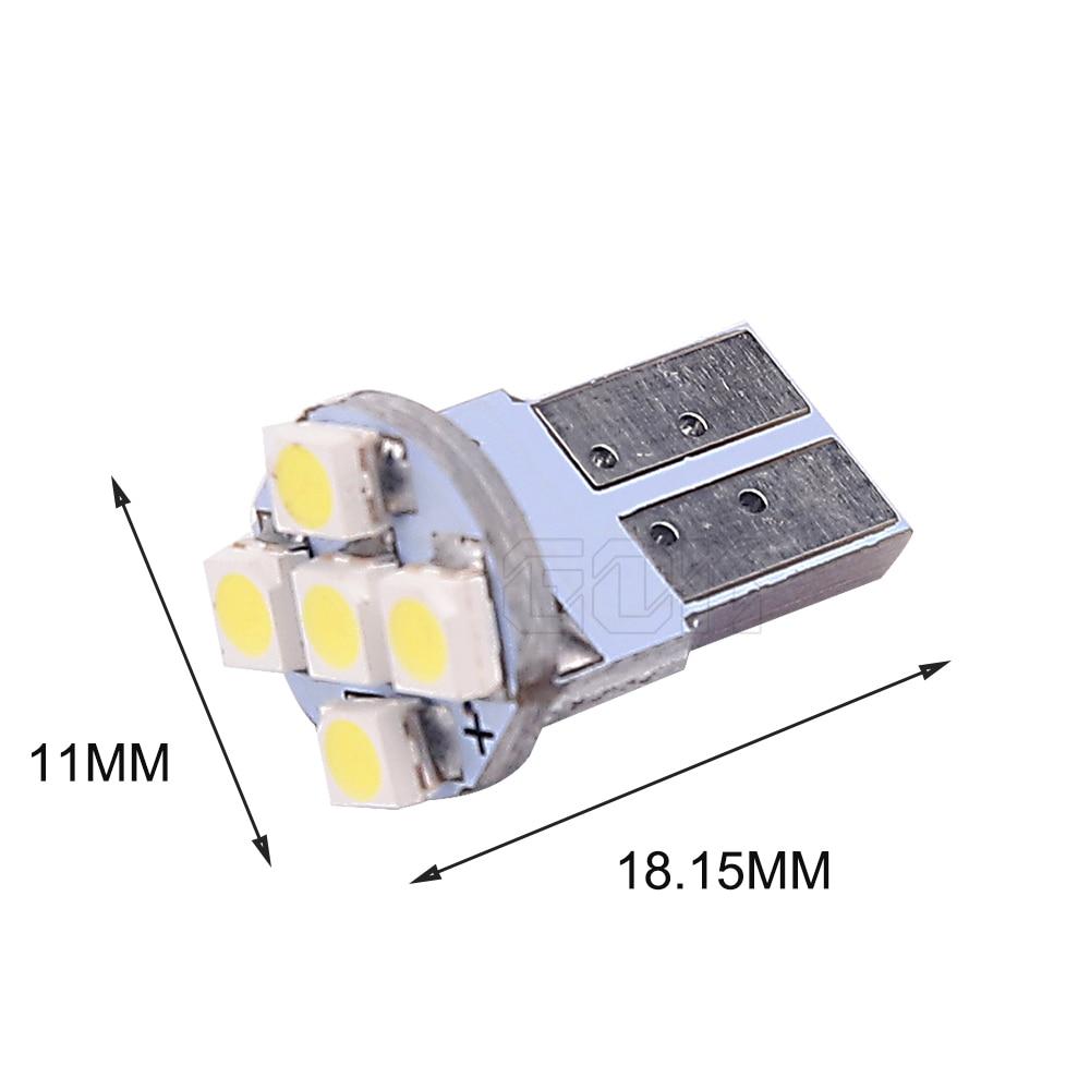 100 шт./лот автомобильные T10 5smd 1210 3528 w5w 194 t10 5 водить автомобиль внутренняя Светодиодная лампа led Автомобильный Клин Парковка потолочный плафон
