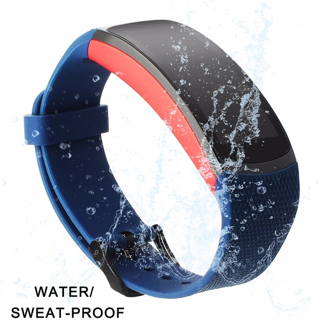 Upgraded Silicone Rubber Watch Band for Samsung Gear Fit 2 R360 / Fit2 Pro R365 Watchband Sports Strap Steel Buckle Bracelet
