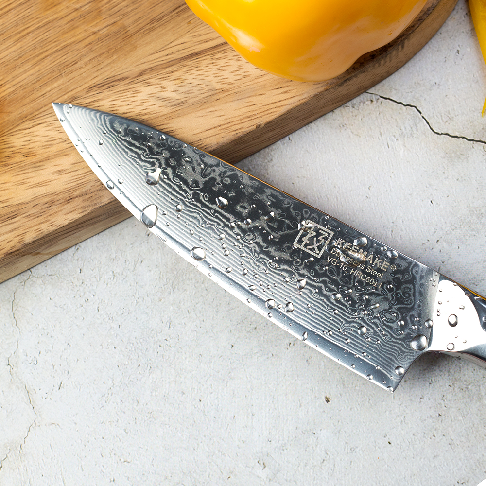 KEEMAKE 6 5 quot inch Chef 39 s Knife Kitchen Knives Japanese Damascus VG10 Steel Core Sharp Strong Blade G10 Handle Cutter Knife Tools in Kitchen Knives from Home amp Garden