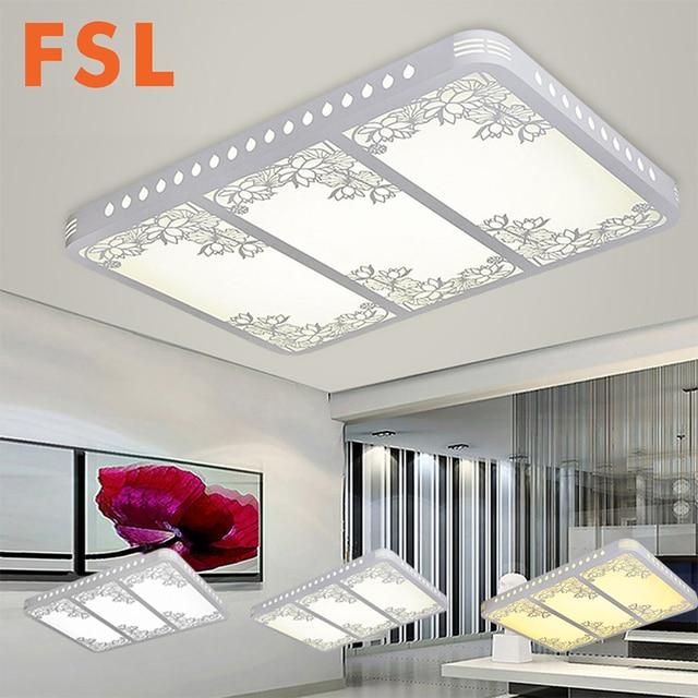FSL LED Creusé Out Sculpture Fleur Plafond Lampe Sans électrode
