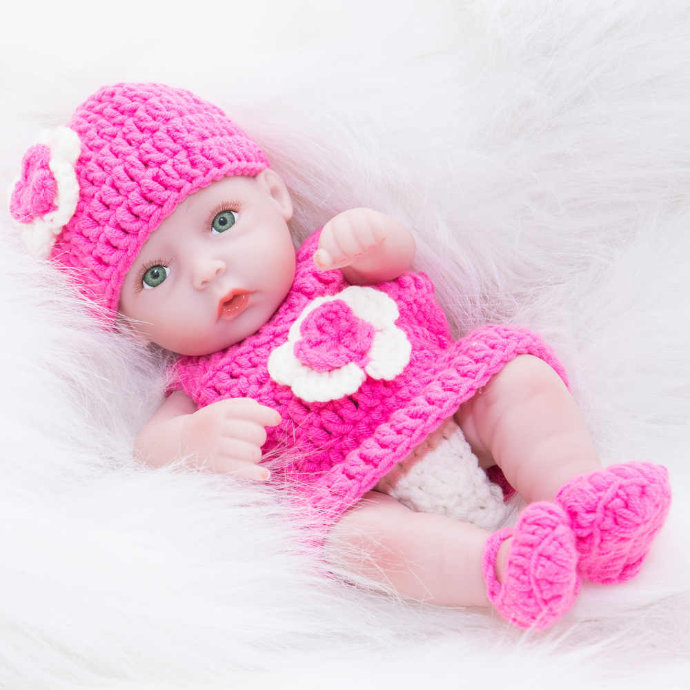 10 дюймов мини очаровательное полное виниловое тело силиконовые куклы Reborn дети перед сном Playmate обучающая кукла