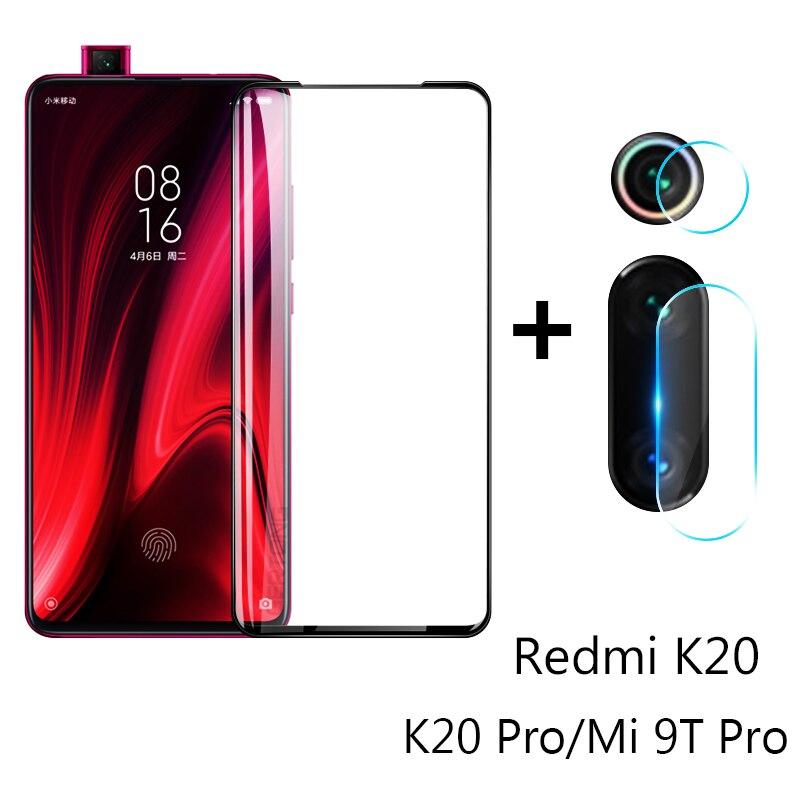 2 en 1 verre de protection pour Xiao mi 9T K20 Pro caméra Film de protection d'écran lentille verre trempé sur rouge mi rouge mi K20 Pro