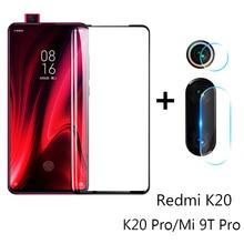 2 in 1 di Vetro Di Protezione Per Xiaomi Mi 9T K20 Pro Protezione Dello Schermo Della Fotocamera Pellicola di Sicurezza Lente in Vetro Temperato per Xiaomi Mi 9 Lite SE