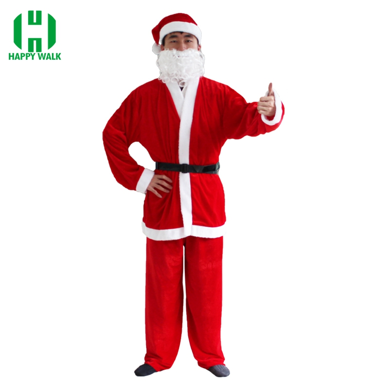 Christmas Santa Claus Costume for Adult Cosplay Santa Claus Clothes Fancy Dress High Quality Christmas Costume Suit