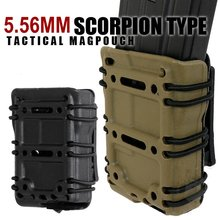 Buy Military Scorpion Tactical 5.56MM FastMag Pouch Molle Belt Fast Mag Holder Airsoft Shooting Hunting AK M4 M16 Magazine Holster save