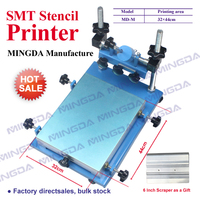 Hot selling MD L (32*44cm) Manual SMT/SMD silk Screen PCB Stencil Printer SMT manual screen printer(With 4 inch squeegee)