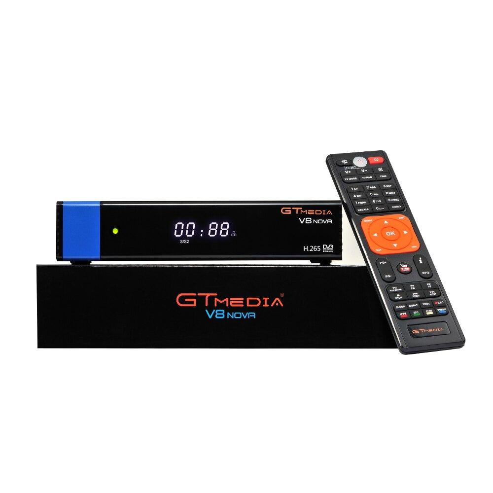 2 PCS/Lot GTmedia V8 Nova bleu DVB-S2 récepteur Satellite prise en charge H.265 C * am Newcad puissance vu mieux gratuit sat v8 super V9 super