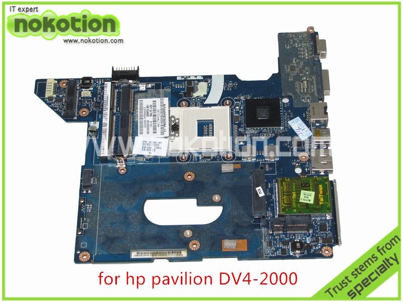 NOKOTION SPS 590350-001 NAL70 LA-4106P For HP pavilion DV4 DV4-2000 Laptop motherboard intel HM55 Graphics DDR3 nokotion sps 679814 001 for hp envy 15 3200 motherboard series notebook pc system board hm76 ati hd7750m graphics ddr3