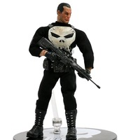 MEZCO The Punisher Frank Castle 1/12 Scale PVC Action Figure Collectible Model Toy 6 16cm