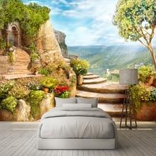 Custom 3D Photo Wallpaper European Garden Nature