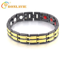 2018 New Arrival Classic Men Jewelry Men Magnetic Copper Bracelets Wristband Charm Fashion Jewelry Gifts(China)