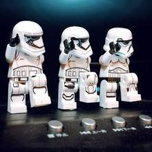 Wholesale lots bulk figuras legoed star war clone nouveau set Building Blocks leia Sith Lord Darth Vader Maul toys for children(China)