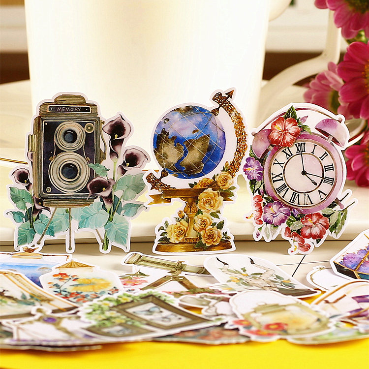 20pcs Creative Cute Self-made Retro Daily Necessities Scrapbooking Stickers /decorative Sticker /DIY Craft Photo Albums