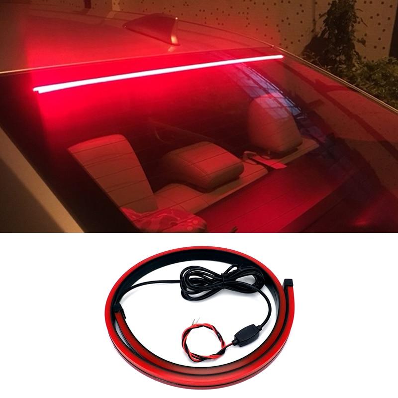 Car Brake Light LED 12V Light Strip Safety Warning Light Stop Signal Lamp Flowing Flashing Rear Tail High Mount Stop Brake Lamp