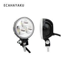 цена на ECAHAYAKU 2Pcs 9W Round Led Work Light Bar 12V Driving Fog spot Lamp For 4x4 motorcycle Off road Truck Tractor 24V SUV 4WD ATV