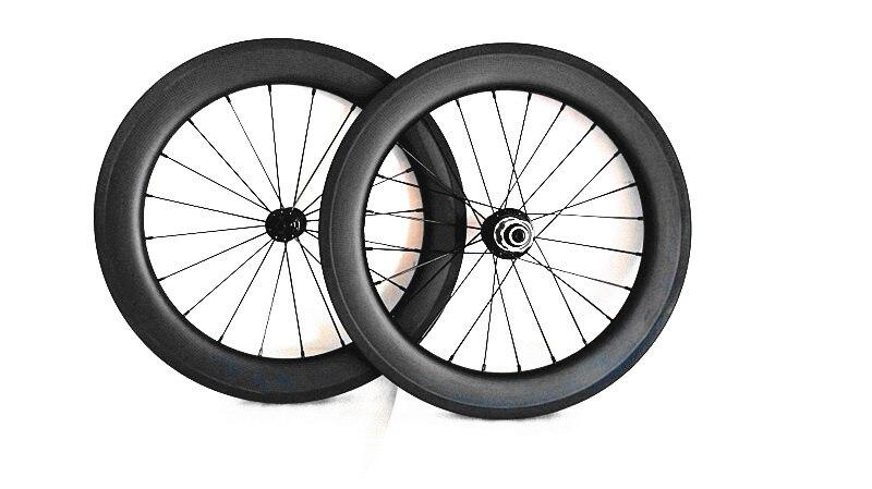 Il trasporto libero ruote in carbonio 451/406 ruote 20 inth Pieghevole ruote della bici della strada ruote
