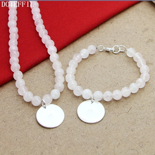 Pink 8mm Pearl Necklace Bracelet 925 Silver Round Card Charm Women Jewelry Natural Freshwater Pearls Necklace Bracelet Set pearl 8mm chain necklace bracelet 925 silver charm round card women jewelry natural red pearls necklace bracelet jewelry set