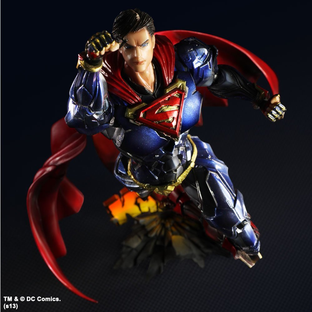SQUARE ENIX Play Arts KAI DC COMICS NO.6 SUPERMAN PVC Action Figure Collectible Models Toys 26cm KT2900