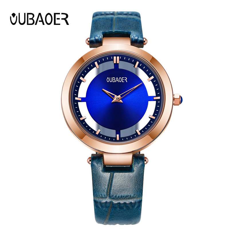 OUBAOER New Wrist Watch Women Watches Ladies Brand Famous Quartz Watch For Women Female Clock Relogio Feminino Montre Femme brand design grade sunglasses women mirror new vintage sun glasses for women female ladies sunglass oculos de sol feminino uv400