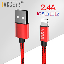 !ACCEZZ Nylon USB Charging Cable For Iphone X XS Max XR 5S 6S 6 7 8 5C Plus Fast Charger Cord Phone Lighting Charge Data Cables