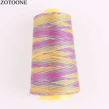 ZOTOONE Diy 3000Y 40S/2 Spool Polyester Sewing Thread Cheap Colorful Thighs Machine Embroidery Sets D