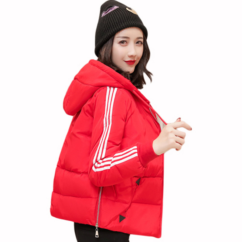 women coats 2017 new winter parkas women loose cotton coat short thickness hooded jacket warm snow red overcoat plus size QH0605 free shipping winter parkas men jacket new 2017 thick warm loose brand original male plus size m 5xl coats 80hfx