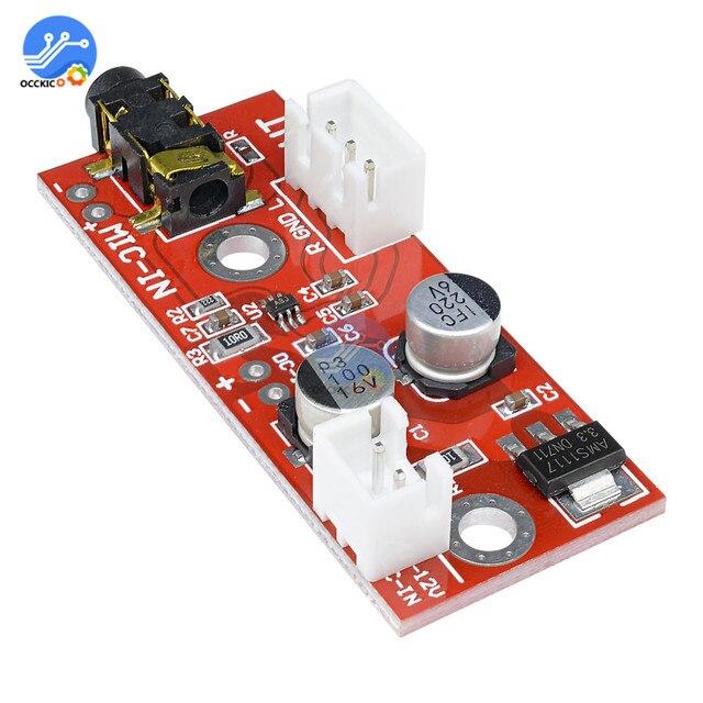 5 Stücke MAX9812 Elektret Mikrofon Verstärkerplatine 3 V 12 V Eingang yh 5 V