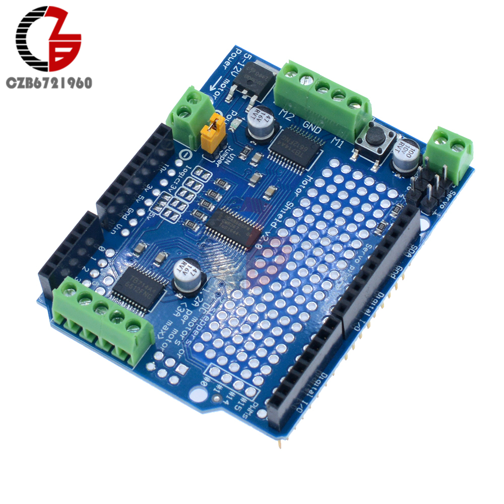 DC Motor Stepper Motor Servo Robot Shield PWM Driver Module I2C for Arduino 5v stepper motor 28byj 48 uln2003 driver test module for arduino