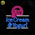 Неоновая вывеска для мороженого йогурт неоновая лампа вывеска магазина Спортивная знаковая лампа ручной работы стеклянная реклама Letrero ...