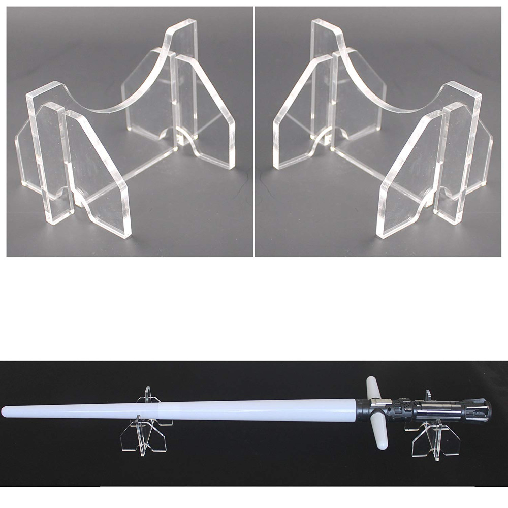 Light Saber Display Stand Light Saber Desk Display Rack - No Lightsaber - Clear