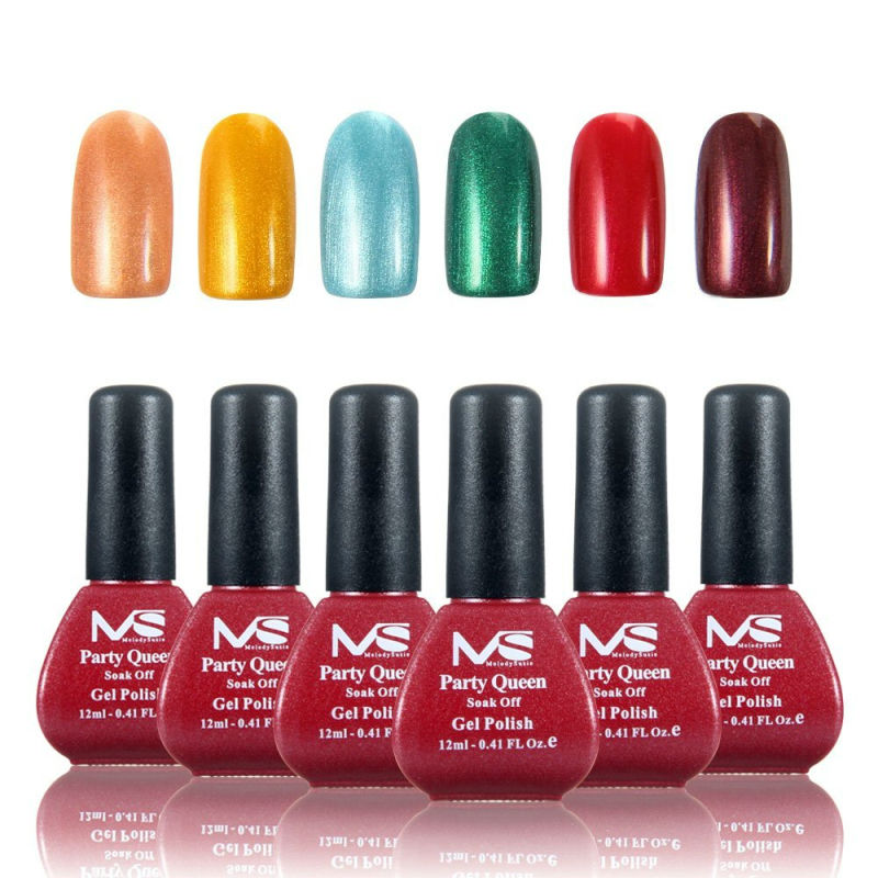 MelodySusie 6 unids/lote Sin Necesidad de Base Top Coat UV LED Gel ...