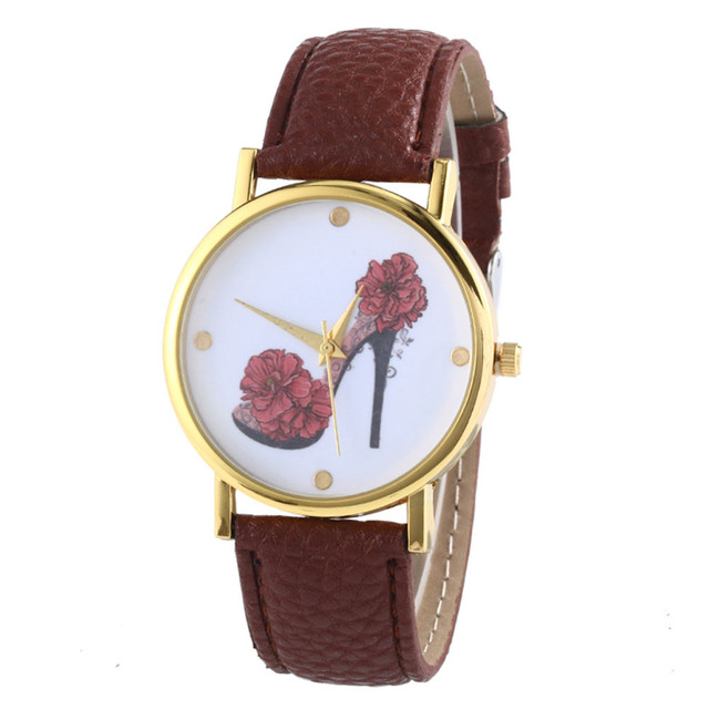 Duobla Leather Band Analog Quartz Vogue laides Wristwatch High heel pattern New Style Woman watches Lady Watch Hot Sale 2019 30Q