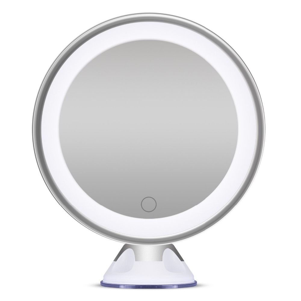 Bornku B60 Makeup Mirror with Lights and Magnification 7X Magnifying Mirror  Dimmable Illuminated Bathroom Mirrors for Wall. Popular Illuminated Magnifying Bathroom Mirror Buy Cheap