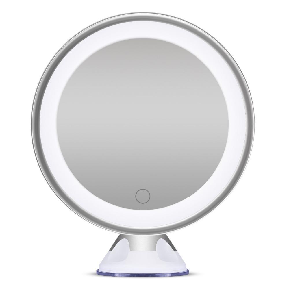 bornku b maquillaje espejo con luces y ampliacin x lupa espejo regulable iluminado espejos de bao