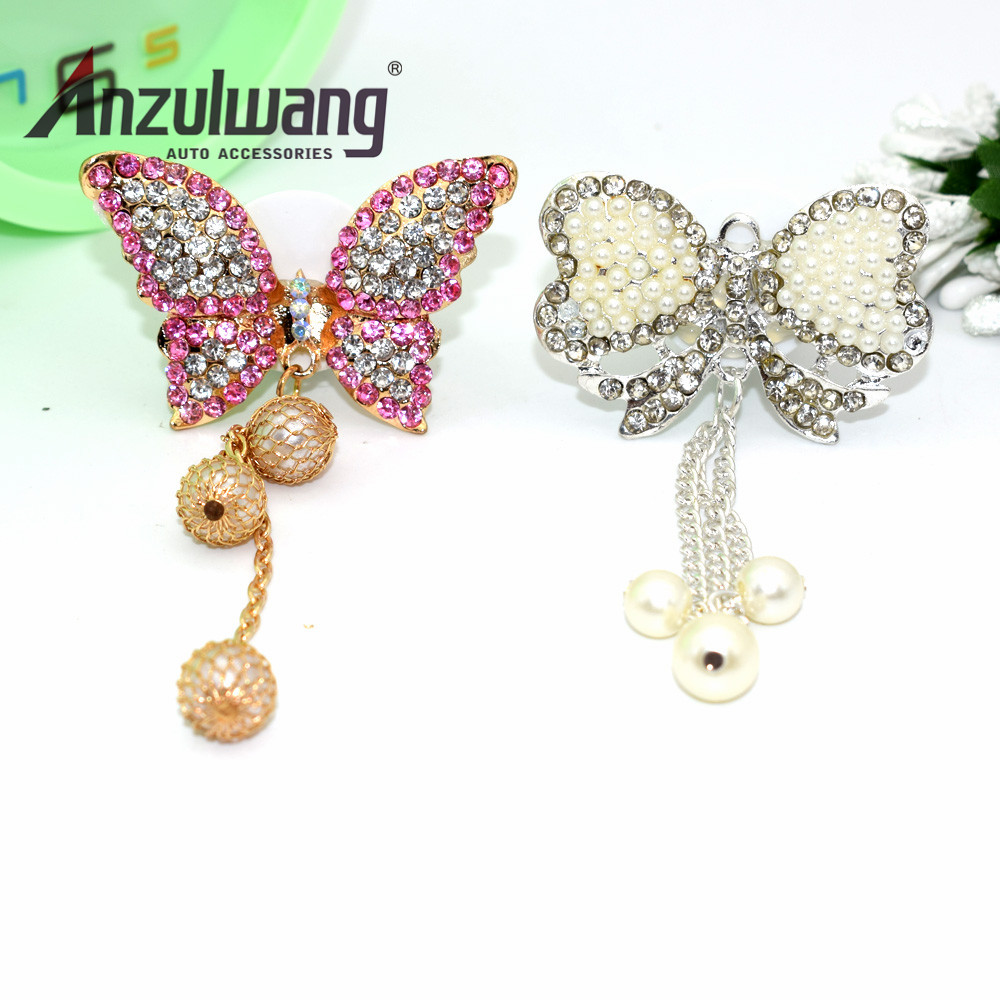 ANZULWANG Butterfly Pendant Car Model Car Air Export Perfume Artificial Crystal Indoor Air Freshener Auto Air