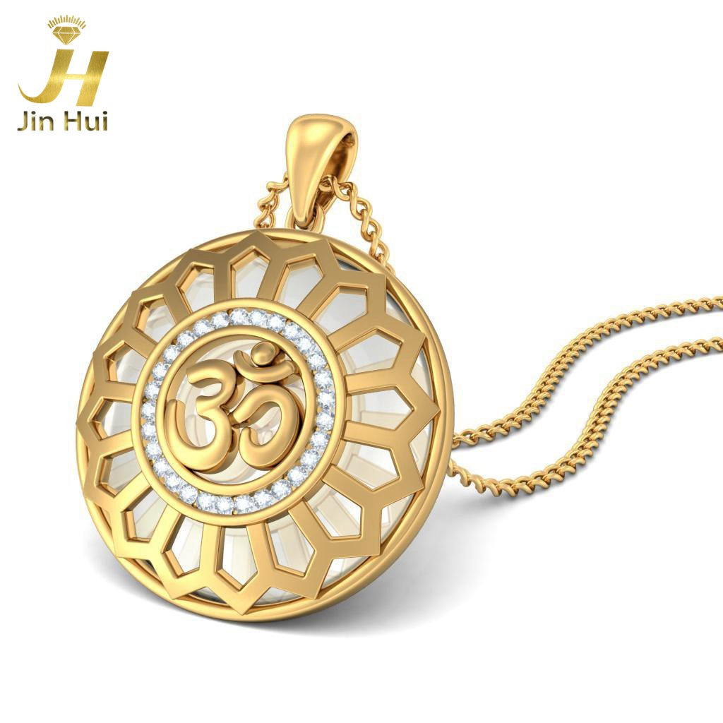 Women the eternal om pendant solid yellow gold 9k au375 with 18k women the eternal om pendant solid yellow gold 9k au375 with 18k overlay 0232ct 5a cz simulated diamond jewelry in pendants from jewelry accessories on aloadofball Image collections