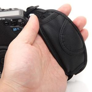 Image 2 - Мягкая ручная сумка из искусственной кожи, ремешок на запястье для Nikon, Canon, Sonys, SLR, DSLR камер, 1 шт.