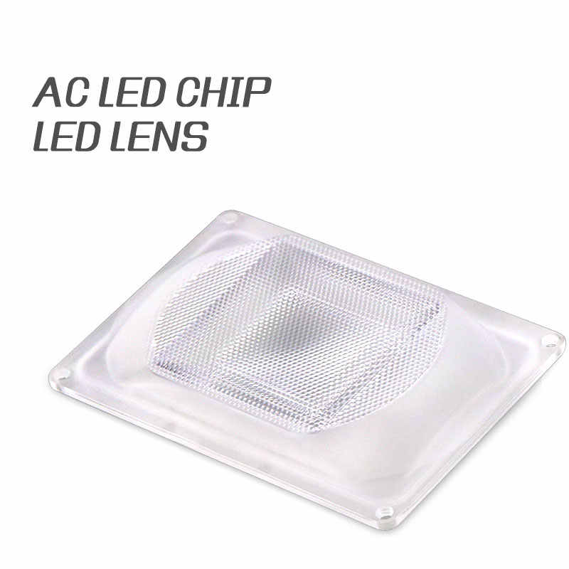 DIY LED Lens For AC LED COB DOB Lamps Include: PC lens+Reflector+Silicone Ring Lamp Cover shades For LED Grow Light/FloodLight
