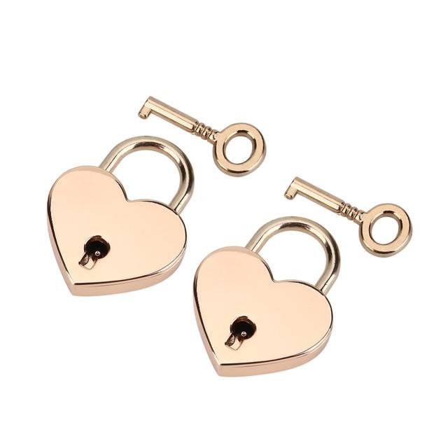 Aliexpresscom Buy 2pcsset Heart shaped Keyed Padlock Key Metal