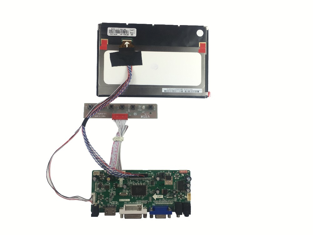 HDMI+DVI+ VGA + Audio LCD controller board  +IPS 7 inch LCD panel N070ICG-LD1 1280*800+LVDS cable +OSD keypad with cable hdmi vga 2av lcd controller board with 7inch n070icg ld1 39pin reversal1280x800 ips touch lcd