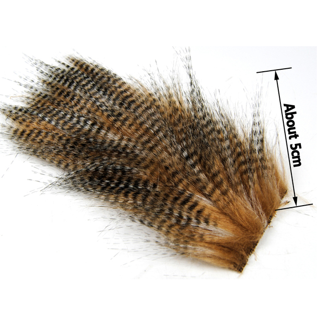 Wifreo 20 Bags 5 X 12CM Grizzly Color Fly Tying Furabou Craft Fur Fiber for Streamer Tail Wing Fly Tying Material Wholesale