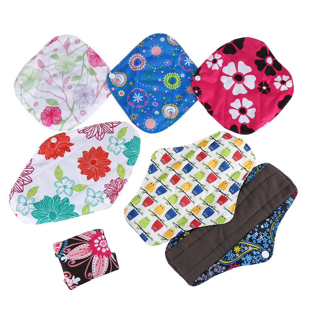 1PCS Bamboo Cotton Washable Reusable Menstrual Cloth Sanitary Pads Napkin Waterproof Panty Liners Women Feminine Hygiene