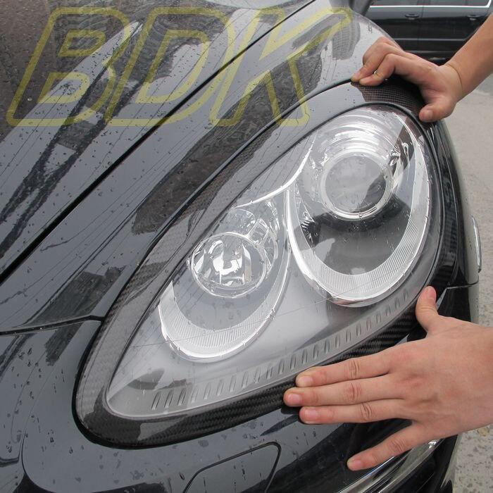 Carbon Fiber Headlight Cover Eyebrow CF Headlight Cover Eyebrows Eyelids Case For Porsche Cayenne 958 2011 2012 2013 2014