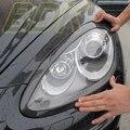 Fibra de Carbono de la ceja faros de faros cubierta de Carbono accessary Para Porsche Cayenne 958 2011 2012 2013 2014